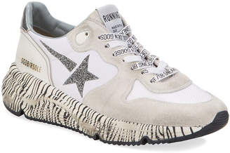 Golden Goose Running Animalia Crystal Sneakers