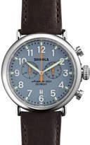 Shinola 47mm Runwell Chrono Watch, Dark Brown/Blue