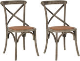 Safavieh Gray Bonnie Side Chairs, Pair