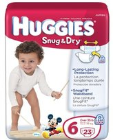 Huggies Ultra Jumbo Diapers 23 ct Size 6