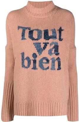 Zadig & Voltaire Alma slogan-knit merino jumper