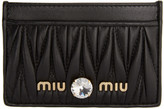 Miu Miu Black Matelasse Leather Card Holder