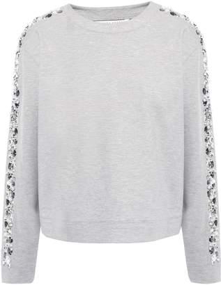 Veronica Beard Marci Embellished Stretch-jersey Sweatshirt