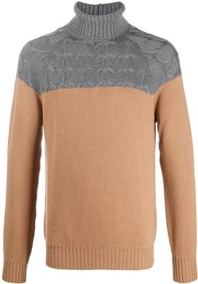 Eleventy Colour-Block Wool Jumper