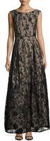Karl Lagerfeld Floral-Embellished Ballroom Gown