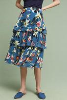 Foxiedox Tiered Floral Midi Skirt