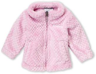 Columbia Newborn/Infant Girls) Pink Fireside Faux Sherpa Full-Zip Jacket