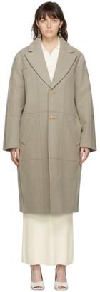 Jacquemus Brown Le Manteau Carro Coat