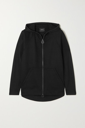 Akris Flava Hooded Stretch-jersey Track Jacket - Black