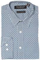 Nick Graham Diamond Print Stretch Shirt Men's Clothing