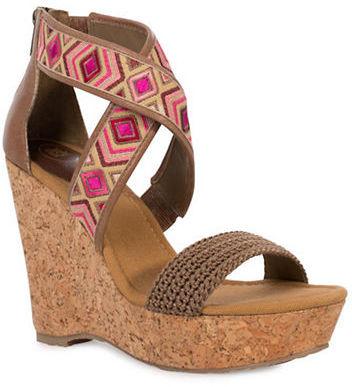 The Sak Mason Cork Wedge Sandals