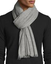 Neiman Marcus Tipped Cashmere Fringe Scarf