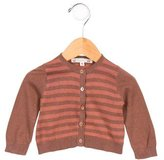 Bonpoint Girls' Striped Knit Cardigan