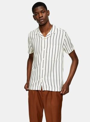Topman CONSIDERED White Pinstripe Slim Shirt