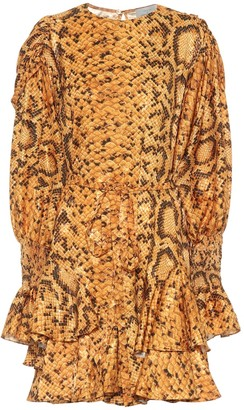 Preen by Thornton Bregazzi Lupita snake-print dress