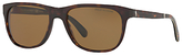 Polo Ralph Lauren PH4116 Polarised Square Sunglasses, Dark Tortoise/Brown