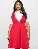 ELOQUII Plus Size Deep V Layering Dress