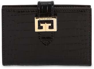 Givenchy Croc Embossed Leather Compact Wallet