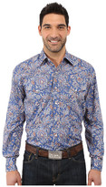 Stetson Brocade Paisley Long Sleeve Woven Snap Shirt