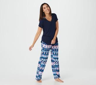 Carole Hochman Coastal Ikat 2-Piece Pajama Set