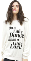 Wildfox Couture Get Down Tonight Baggy Beach Jumper in Alabaster