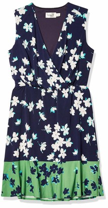 Eliza J Women's Petite Printed Surplus Bodice Dress (Regular & Petite)