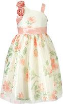 Jayne Copeland One-Shoulder Flower Print Dress, Big Girls (7-16)