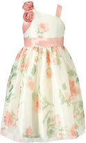 Jayne Copeland One-Shoulder Flower Print Dress, Toddler & Little Girls (2T-6X)