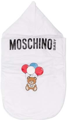 MOSCHINO BAMBINO Bear logo print sleep bag