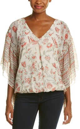 Max Studio Women's Printed Texture Blouse