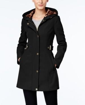 Via Spiga Petite Hooded Raincoat, Created for Macy's