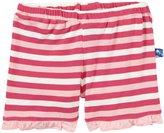 Kickee Pants Print Ruffle Shorts (Baby) - Bubblegum Stripe-3-6 Months