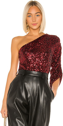 IORANE lORANE Sequin One Shoulder Top