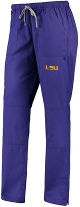 Women's Purple LSU Tigers Straight Leg Scrub Cargo Scrub Pants