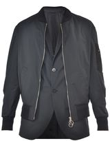 Neil Barrett Bomber Jacket With Internal Waist Coat