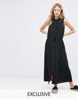 Monki Oversized Hooded Midi Dress