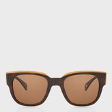 Paul Smith Deluxe Tortoise Stripe Polarized 'Eamont' Sunglasses