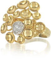 Orlando Orlandini 18K Yellow Gold Bouquet Ring w/Diamond