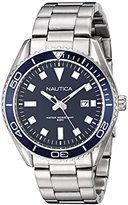 Nautica Men's NAD12518G NAC 103 Date Analog Display Japanese Quartz Silver Watch