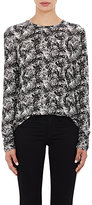 Proenza Schouler Women's Tissue-Weight Long-Sleeve T-Shirt-BLACK, WHITE