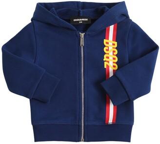 DSQUARED2 Logo Print Cotton Sweatshirt Hoodie