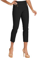 Style&Co. Zip-Pocket Pull-On Capri Pants