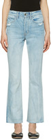 Helmut Lang Blue High-Rise Crop Jeans