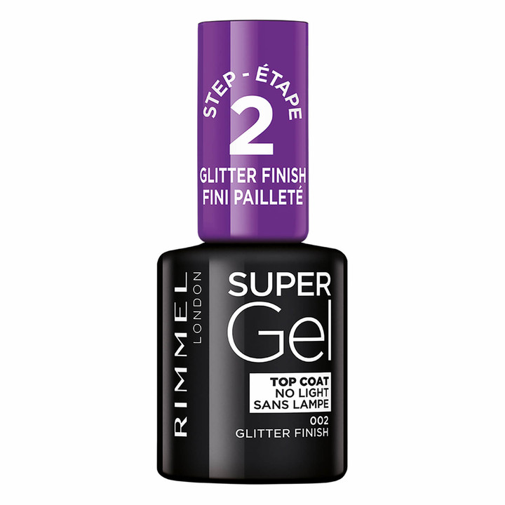 Rimmel Super Gel Top Coat - Glitter Finish