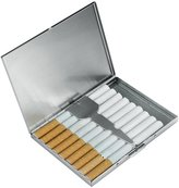 Vanlemn Cigarette Case Stainless Steel Cigarette Holder 9 Cigarettes Capacity Storage Box Without Cigarettes,Unisex-Adults