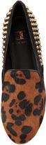 Kelsi Dagger Francie Calf Hair-Studded Flat, Leopard