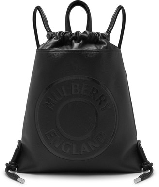 Mulberry Urban Drawstring Backpack Black Small Classic Grain