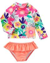 Gymboree Floral 2-Piece Swim Set
