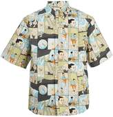 Prada Home-print cotton-poplin shirt