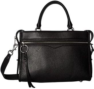 Rebecca Minkoff Bedford Zip Satchel (Black) Satchel Handbags